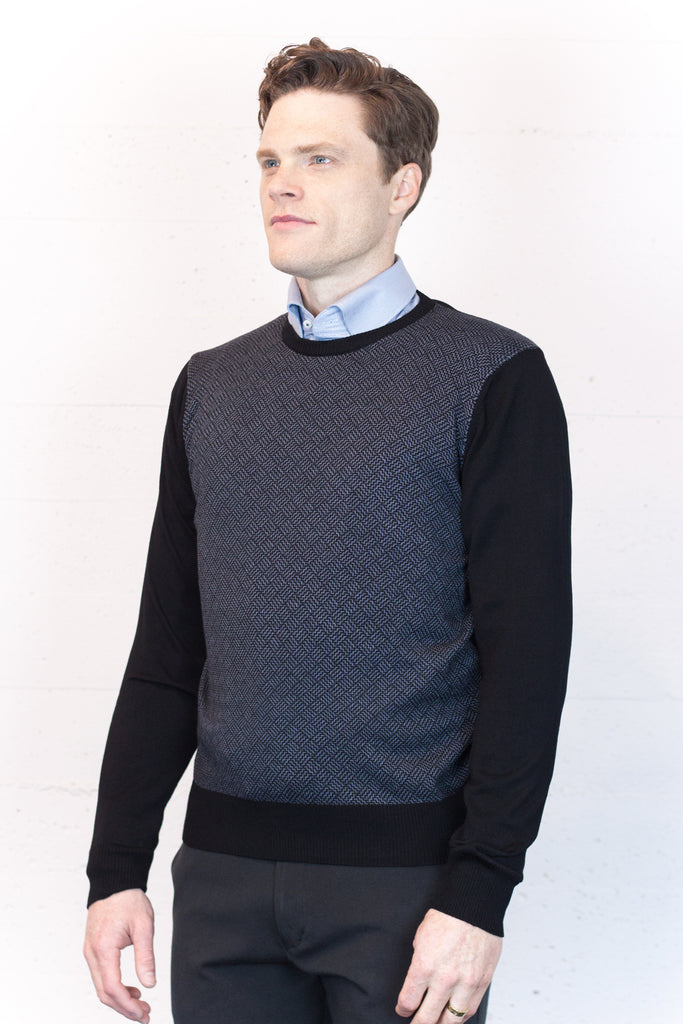 Black Basket Weave Jumper