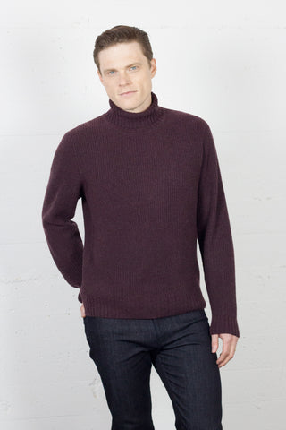 Ribbed Roll Neck Truffle