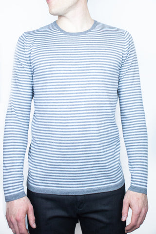 Stone Stripe Crew Neck Jumper