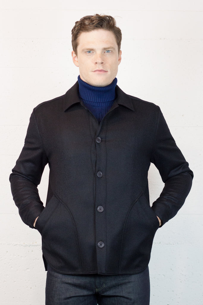 Black Wool Site Jacket