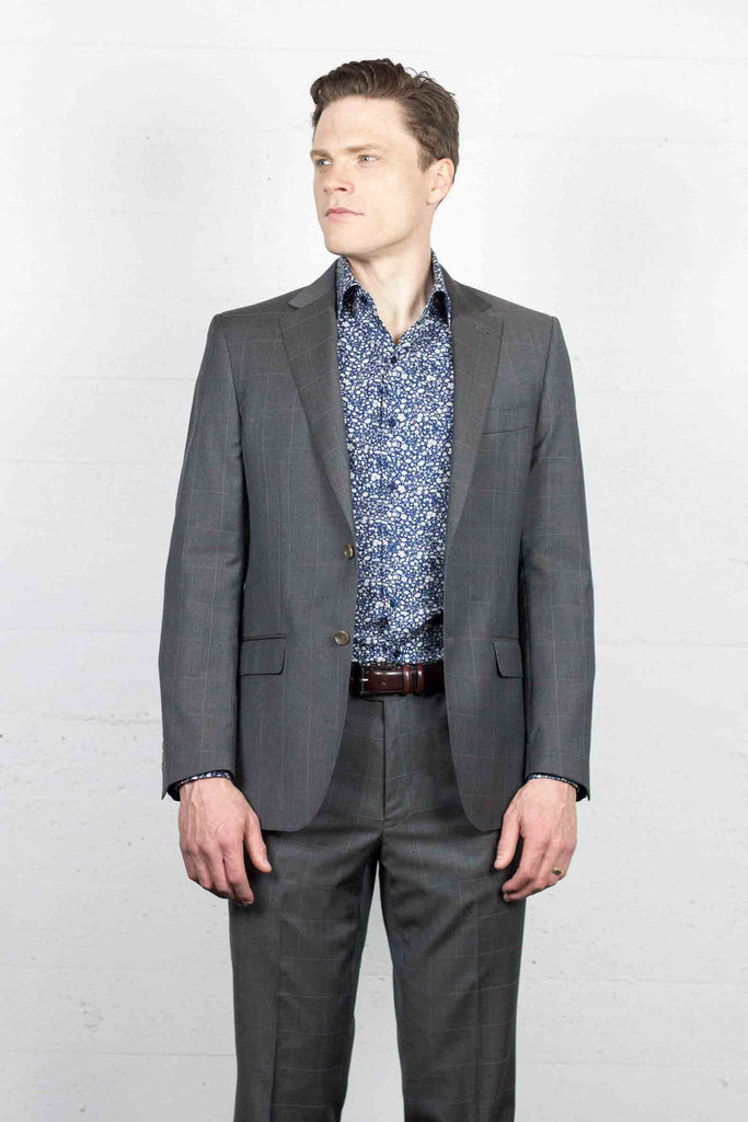 Gravel Window Pane Suit