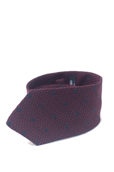 Wintery Red Spot Silk Tie