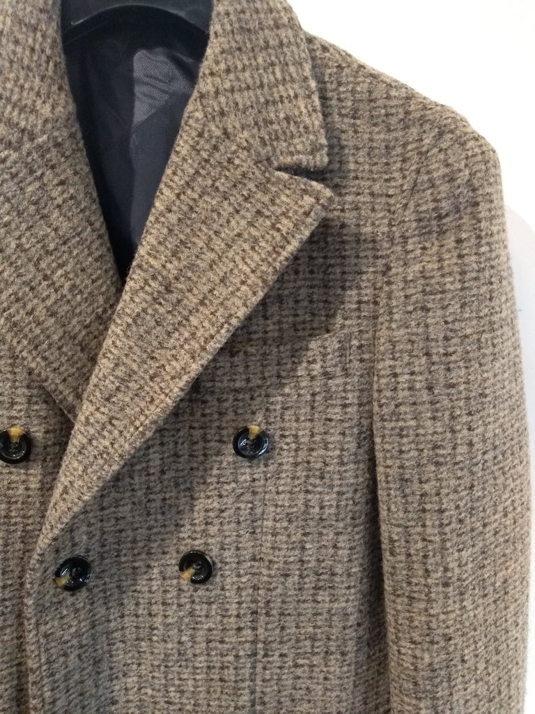 Tweed Grid Overcoat