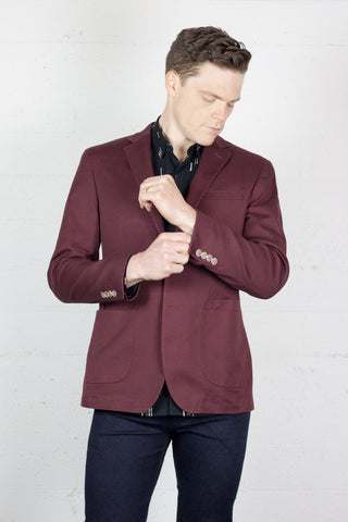 Gibson Blazer Wine Stretch