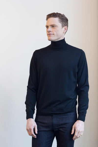 Visconti Roll Neck Black