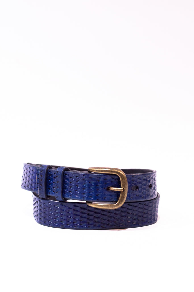 Blue Leather Gecko Belt