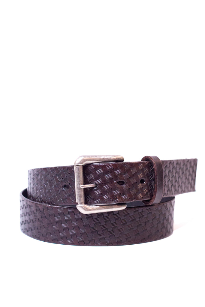 Jean Belt Basket Weave Brown