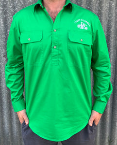 Mens JD Green Work Shirt