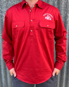 Mens Case Red Work Shirt