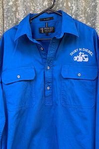 Womens Blue Work Shirt