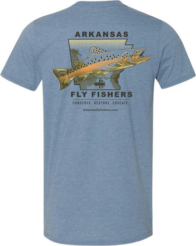 Arkansas Fly Fishers Short Sleeve T-Shirt (Blue-Medium only)