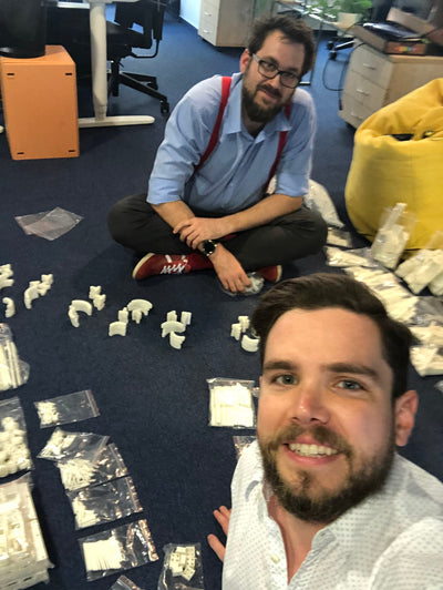 The Engineers Are All Smiles: Parts Arrived