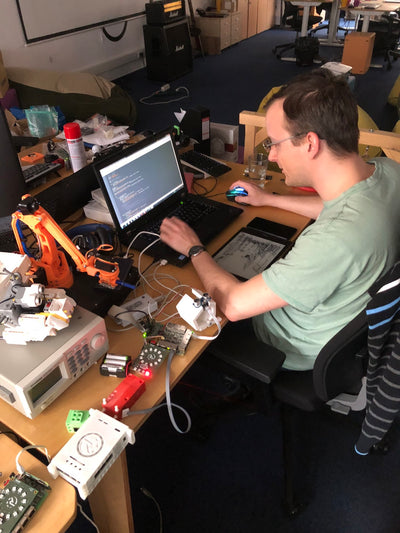 Revolution Robotics Engineers Testing Code