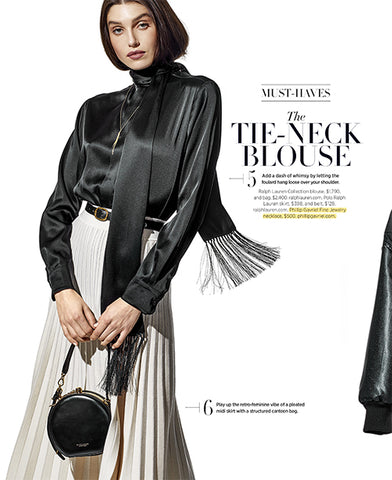 Phillip Gavriel Tassel Necklace in Harper's Bazaar