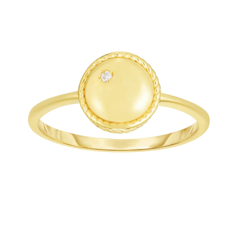 14K Gold Diamond Round Piccolini Ring - Phillip Gavriel