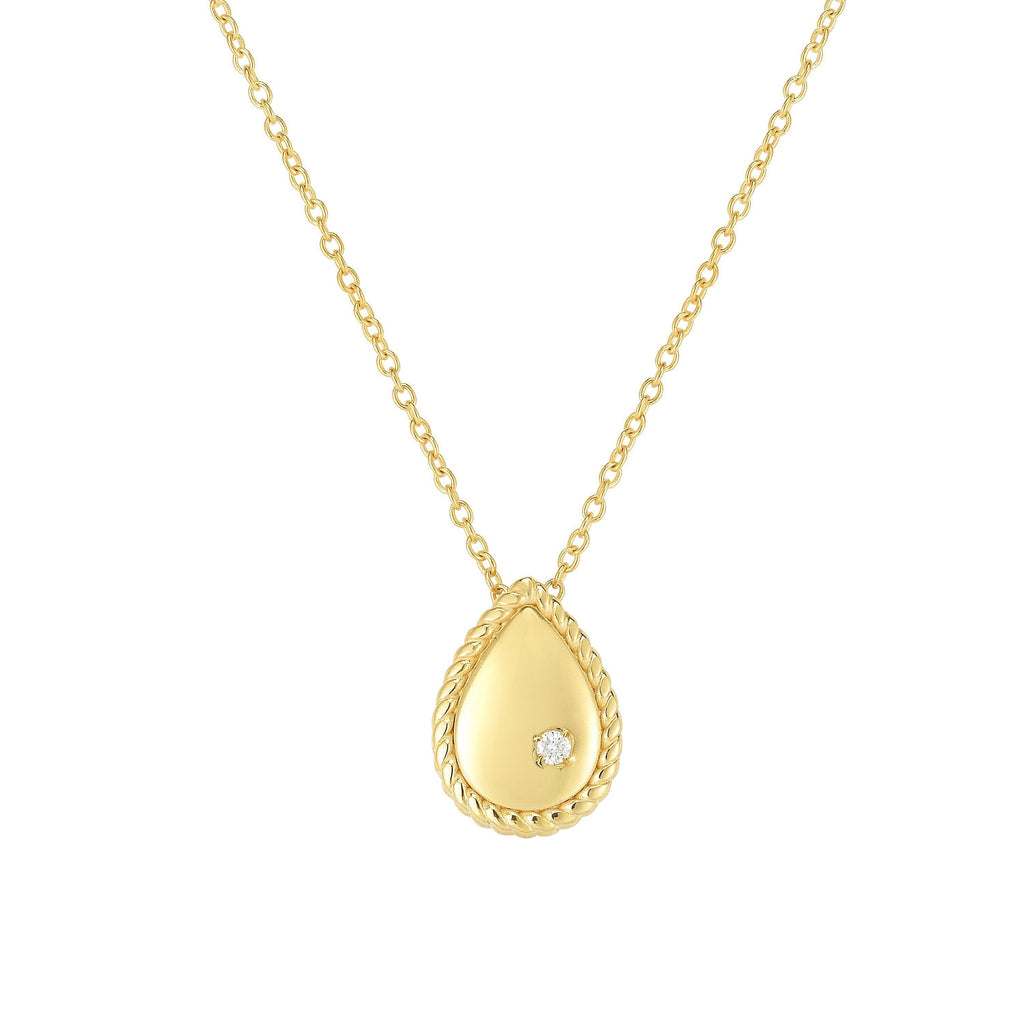 14K Gold Diamond Teardrop Piccolini Necklace - Phillip Gavriel