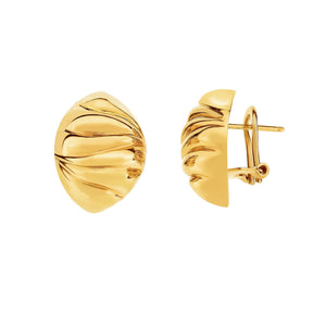 14K Gold Domed Scalloped Earrings - Phillip Gavriel