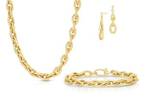 14K Gold Phillip Gavriel Pera Link Collection. Made in Italy,