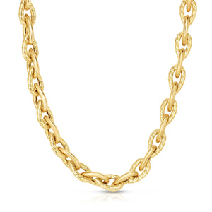 "Phillip Gavriel 14K Gold Extra Long 30"" Pera Link Necklace for women or men"