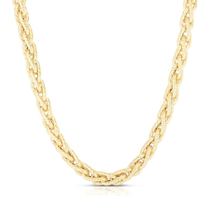 14K Gold IL Grano Braided Link Necklace - Phillip Gavriel