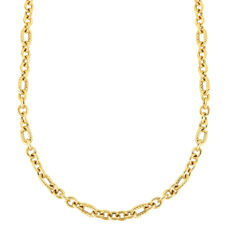 14K Gold Italian Cable Oval Link Necklace - Phillip Gavriel