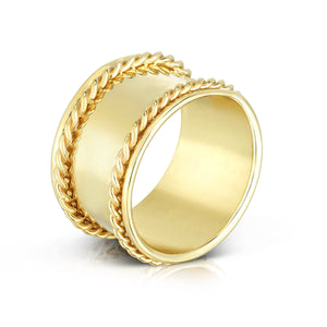 14K Gold Lucia Band Ring - Phillip Gavriel
