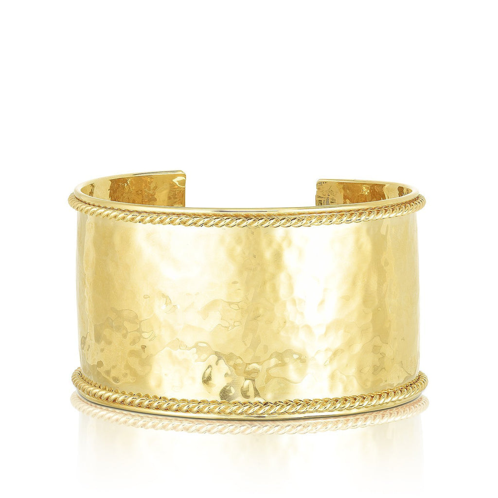 14K Gold Lucia Large Cuff Bangle - Phillip Gavriel