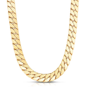 14K Gold Maschio Modern Curb Necklace For Men - Phillip Gavriel