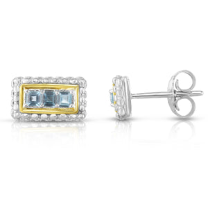 Sterling Silver & 18K Gold Bar Stud Earrings - Phillip Gavriel