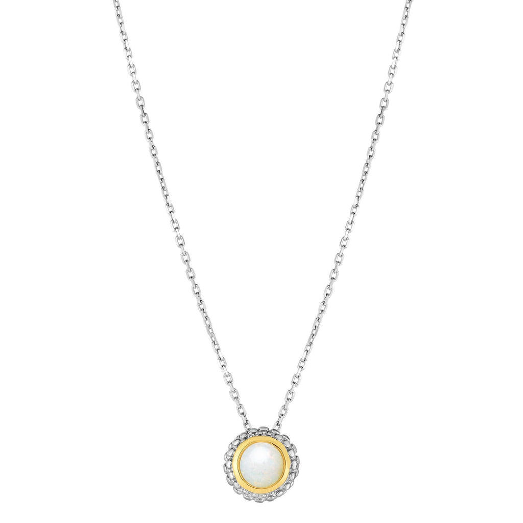 Sterling Silver & 18K Gold Popcorn Birthstone Necklace - Phillip Gavriel