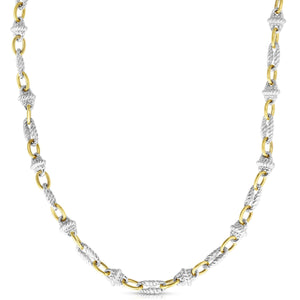 Sterling Silver & 18K Gold Victorian Link Necklace - Phillip Gavriel