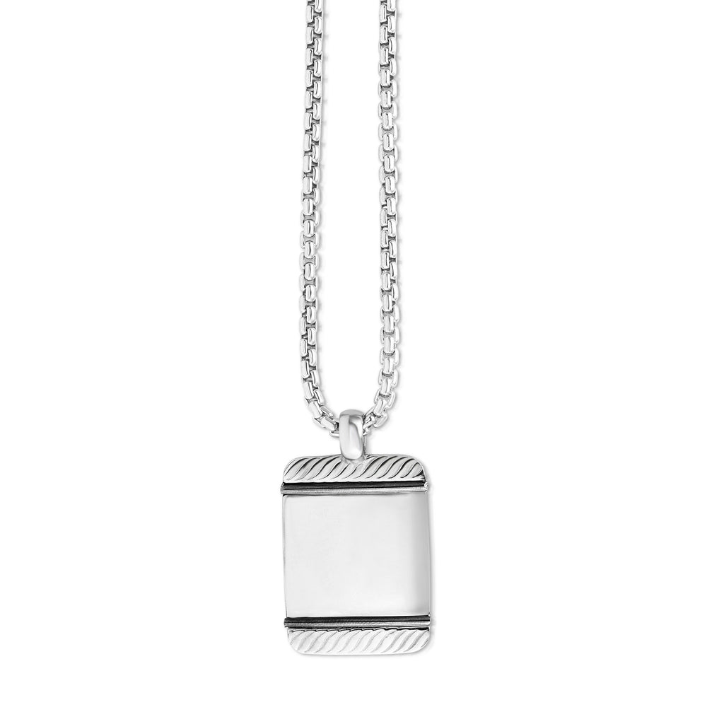 Sterling Silver Tag Necklace - Phillip Gavriel