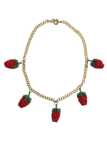 Chain Strawberry Necklace