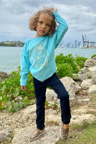My Strength Kids Sweatshirt Turquoise