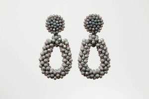GREY OPHELIA EARRING