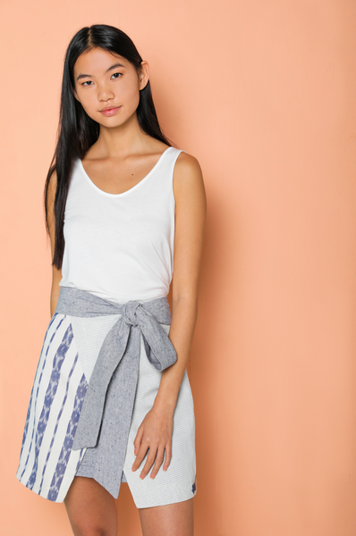 Chapin Layered Wrap Skirt
