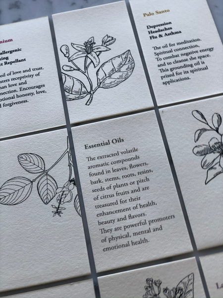 Card Set - Essential Oils