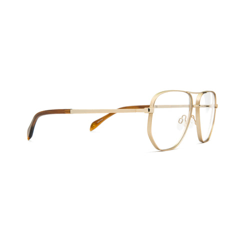 MIO1011 C1 - 57-13-150 Gold front, Brown Horn temples