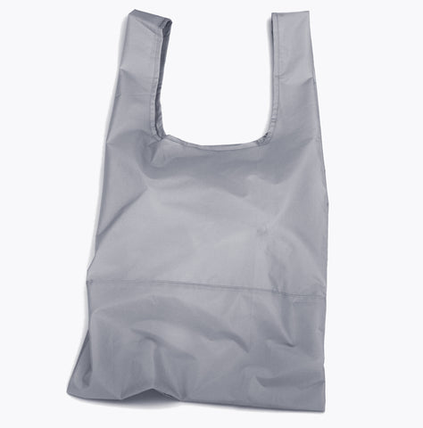 Econyl® grey foldable tote bag
