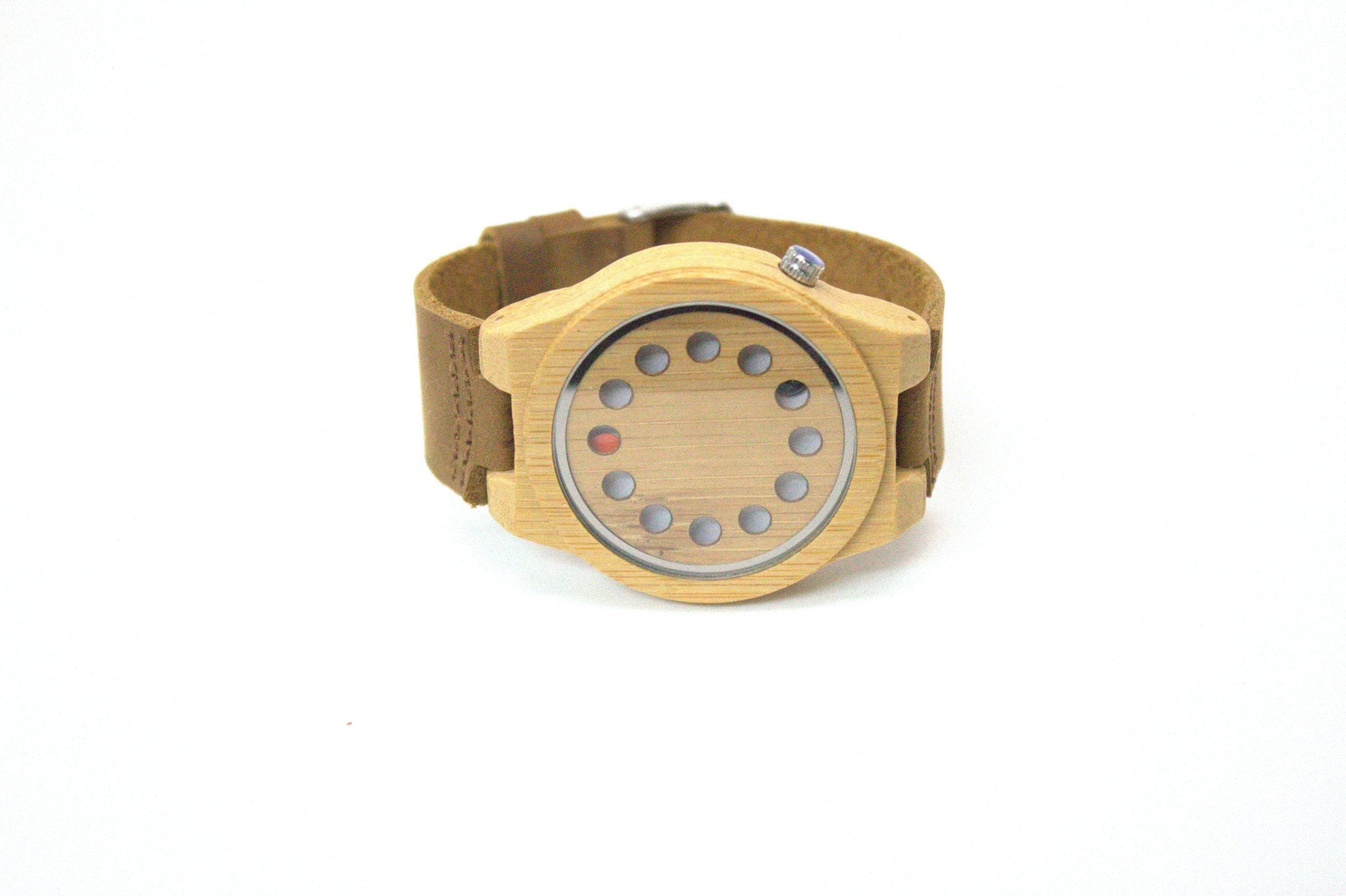 Wood/Bamboo and PC leather Watch