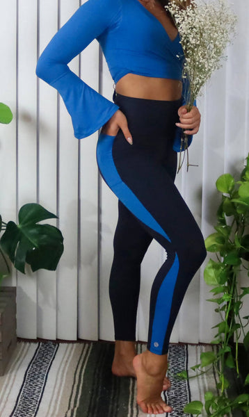 Side Stripe Double Pocket Leggings