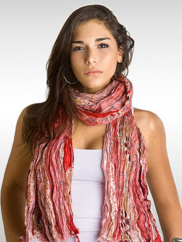 Dusty Rose Vintage Silk Sari Scarf