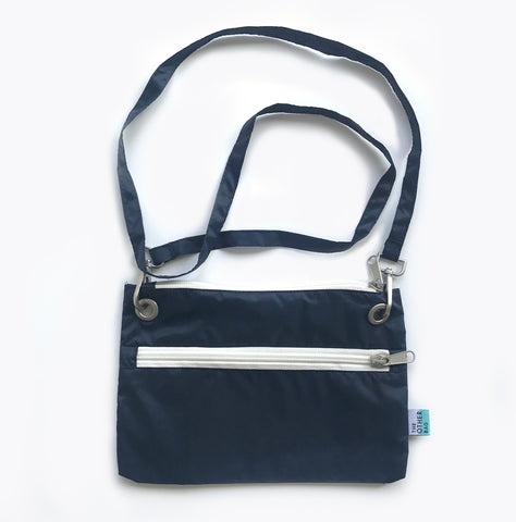 Econyl® navy cross-body bag