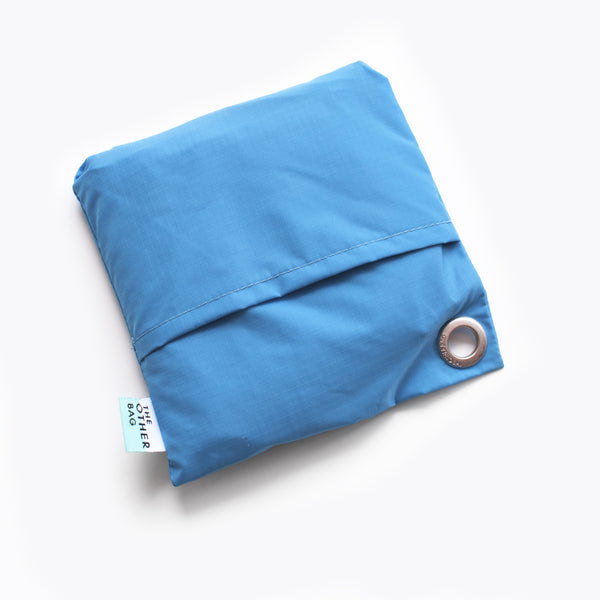 Econyl® Bondi blue foldable tote bag