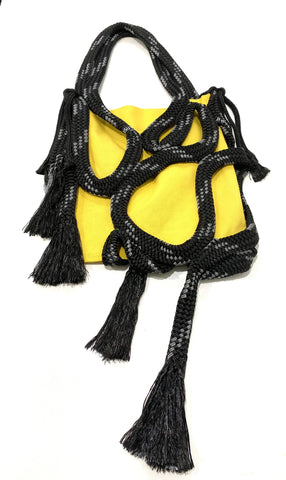 Yellow rope purse
