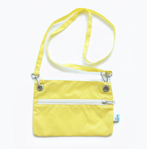 Econyl® yellow cross-body bag