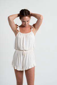 Ruffle Romper - Cloud