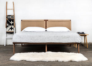 Rian Bed White Oak Kraft Danish Cord