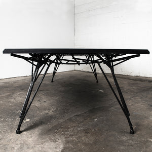 Birdsnest Modern Table Ebonized Hardwood Steel