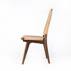 Rian High Back Chair, White Ash